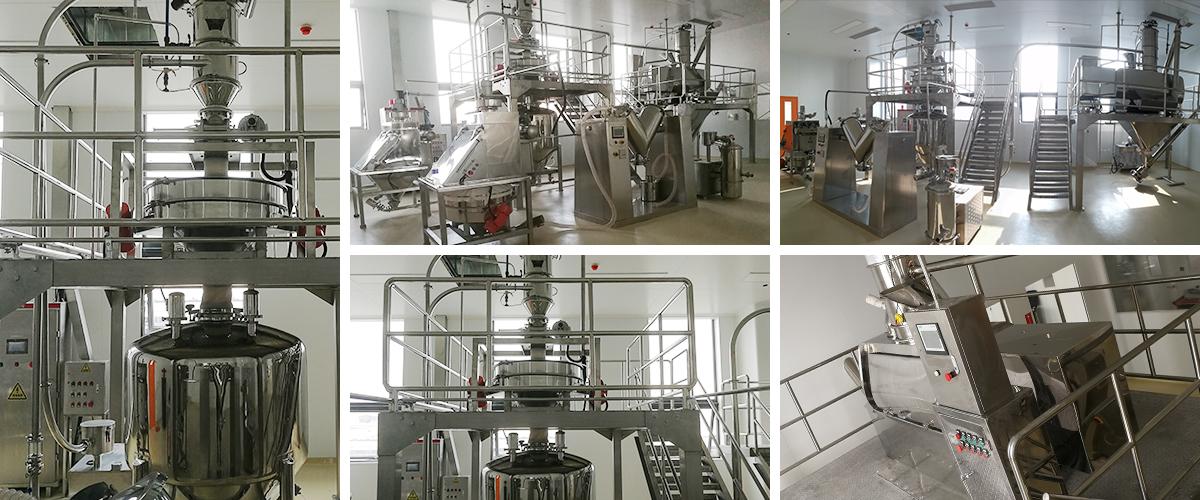 Ready-mixed flour and breaded flour production line